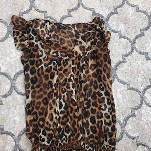 Express Cheetah Dress Shirt